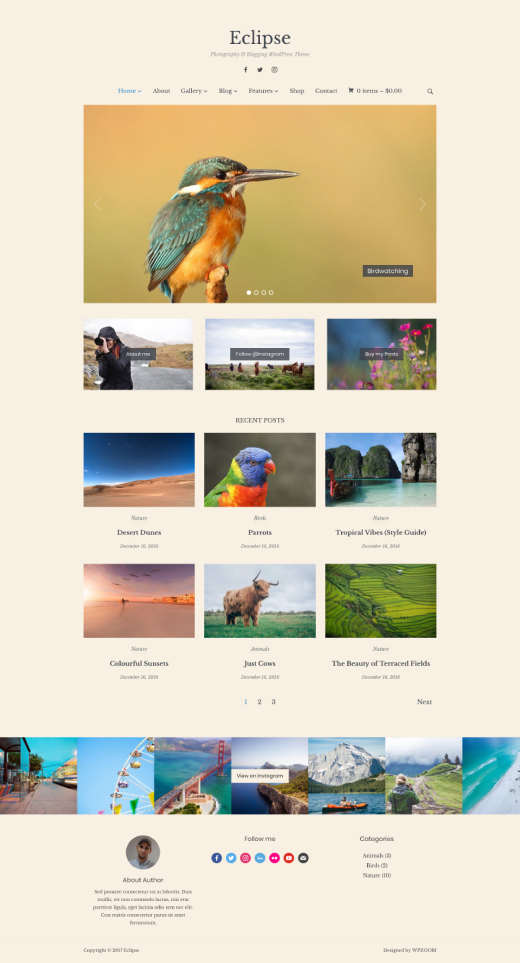 Eclipse • best photography portfolio WordPress theme – WPZOOM