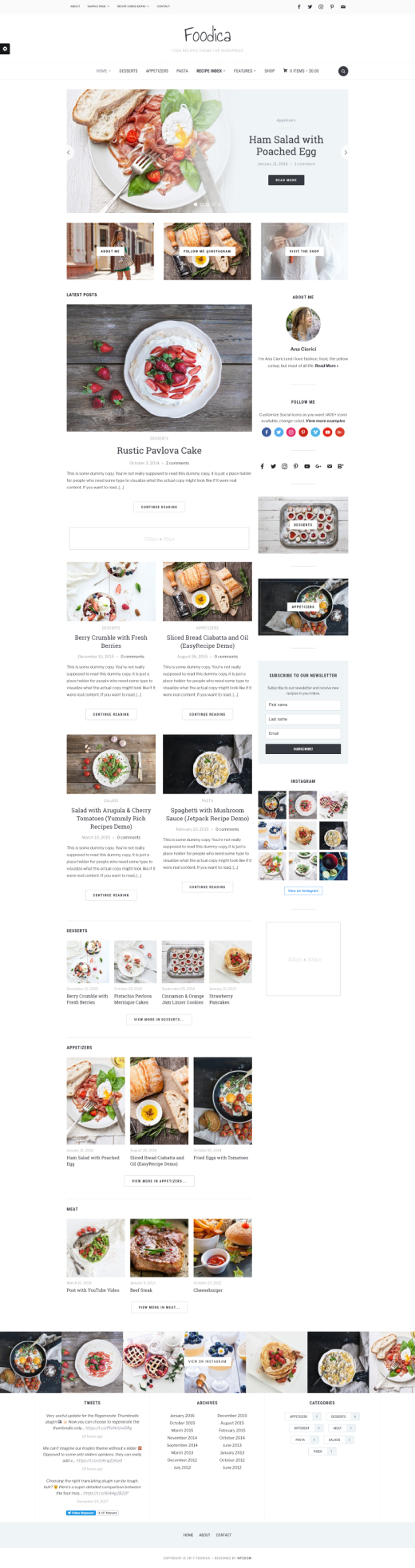 Foodica • beautiful recipe food blog WordPress theme – WPZOOM