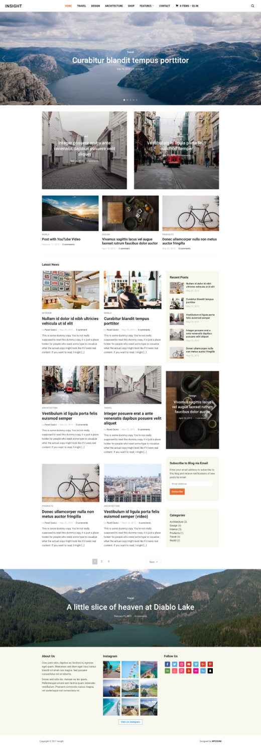 Insight • Minimal magazine WordPress theme – WPZOOM