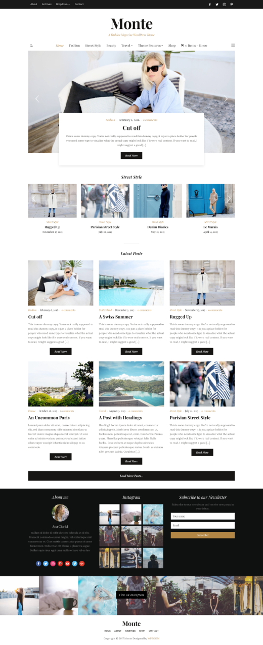 Monte • best lifestyle and WordPress fashion theme – WPZOOM