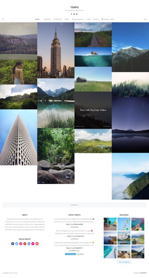 Tempo • best minimal portfolio WordPress theme – WPZOOM