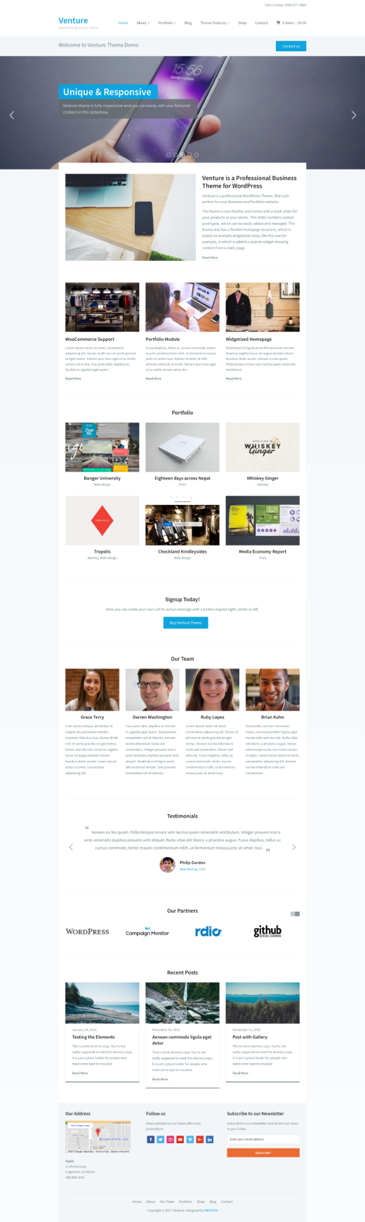 Venture 2.0 • best business WordPress theme – WPZOOM