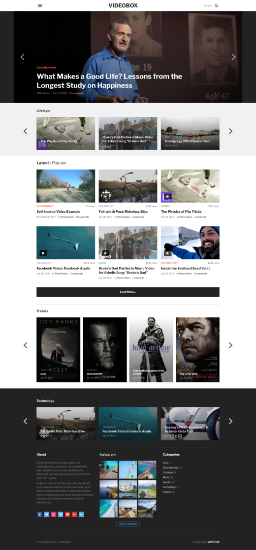 VideoBox • best WordPress video theme – WPZOOM