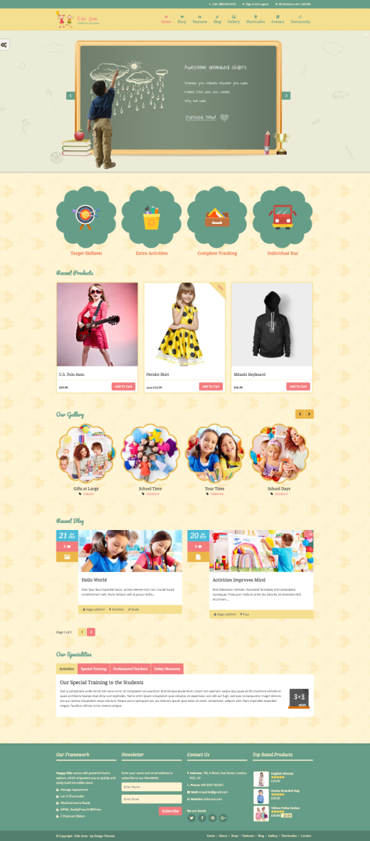 Kids Zone | Children & Kids WordPress Theme