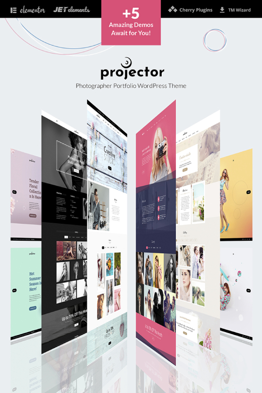 Projector - Photographer Portfolio Multihome WordPress Theme