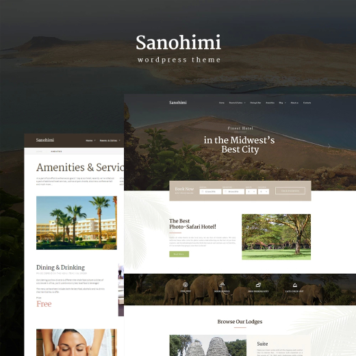 Sanohimi Exotic Hotel WordPress Theme