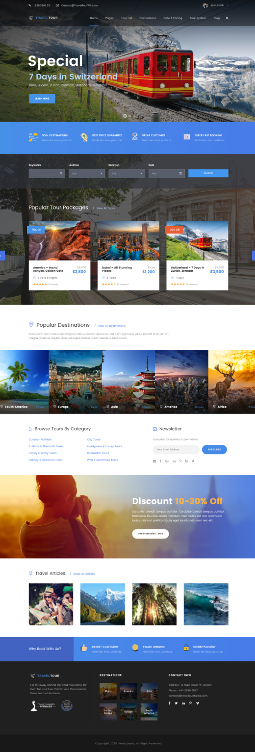 Travel Tour - Tour Booking, Travel WordPress Theme