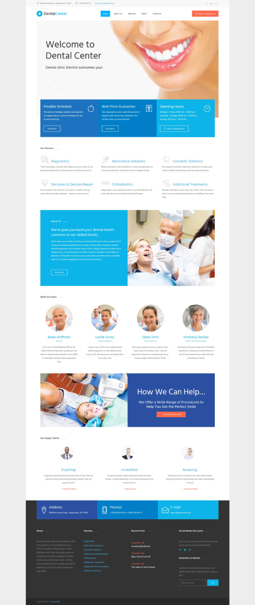 Dentalcenter - Dental Clinic Responsive WordPress Theme