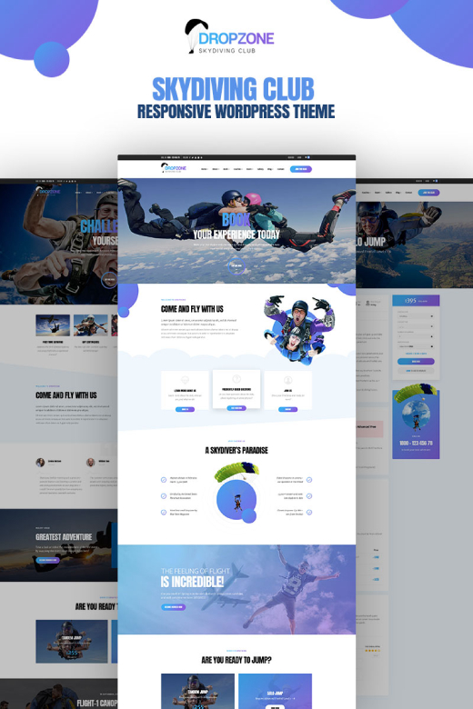 Dropzone - Skydiving Club WordPress Theme