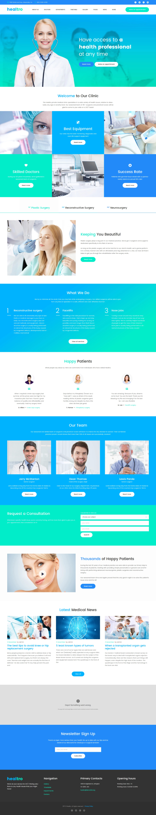 Healtro - Private Medical Clinic Responsive WordPress Theme