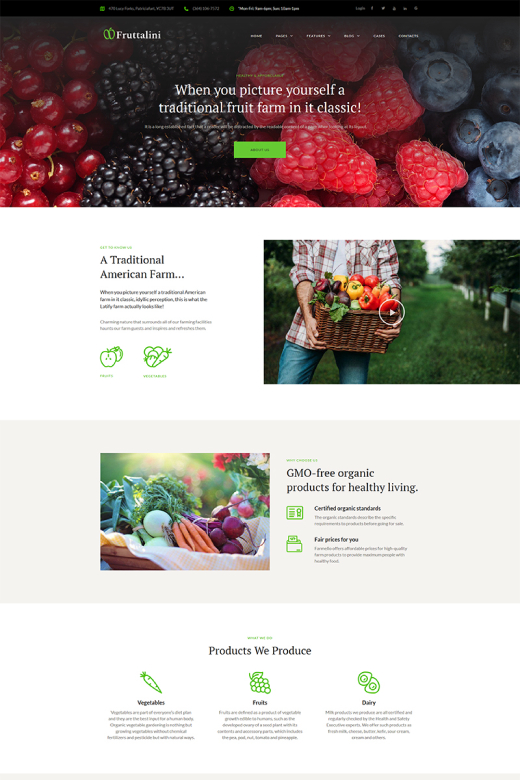 Fruttalini - Organic Fruit Farm Responsive WordPress Theme