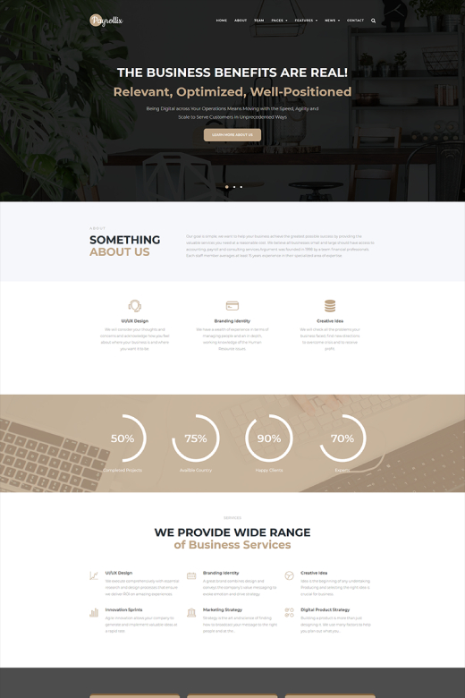 Payrollix - Internet Business Accounting WordPress Theme