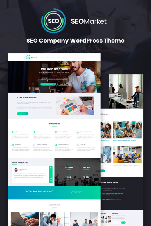 SEOMarket - SEO Website WordPress Theme