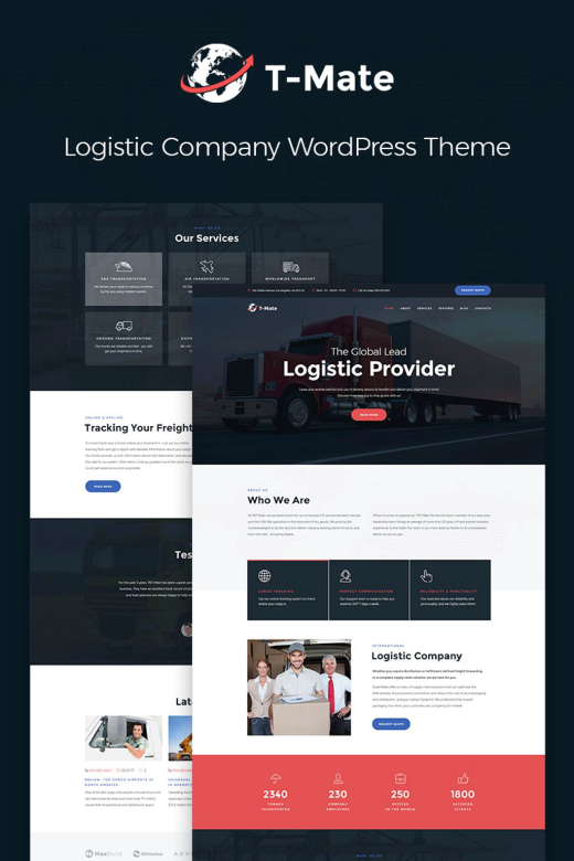 Transportation Services Responsive WordPress Theme