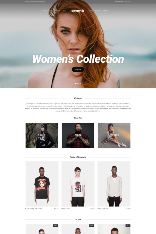 Amaryllis - WooCommerce theme for WordPress - CSSIgniter