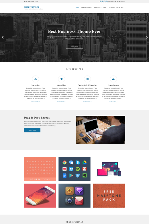 Business3ree - Business WordPress Theme - CSSIgniter