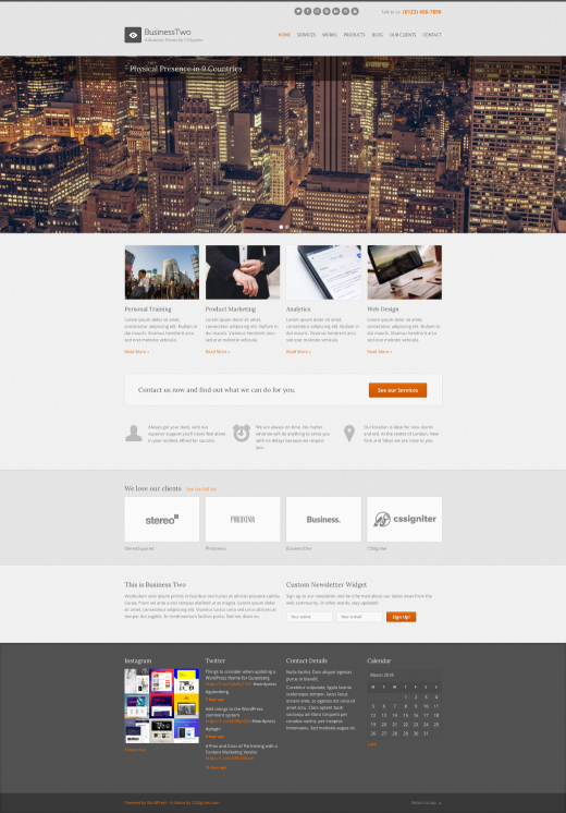 BusinessTwo - Business WordPress theme - CSSIgniter