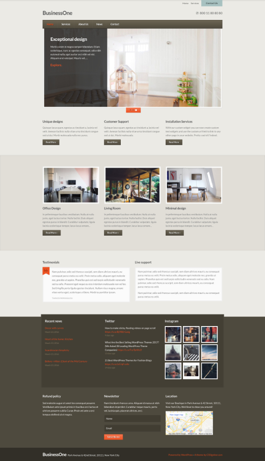 BusinessOne - Business WordPress theme - CSSIgniter