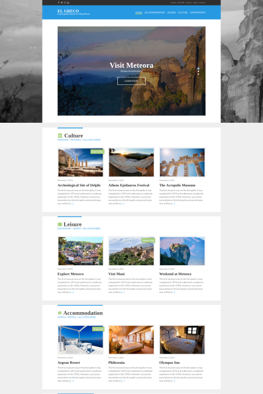 El Greco - Travel Blog theme for WordPress - CSSIgniter