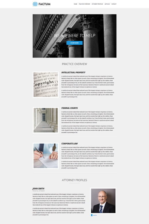 Factum - Law theme for WordPress - CSSIgniter