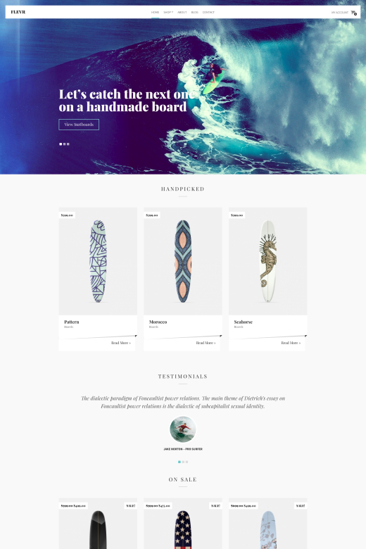 Flevr - WooCommerce theme for WordPress - CSSIgniter