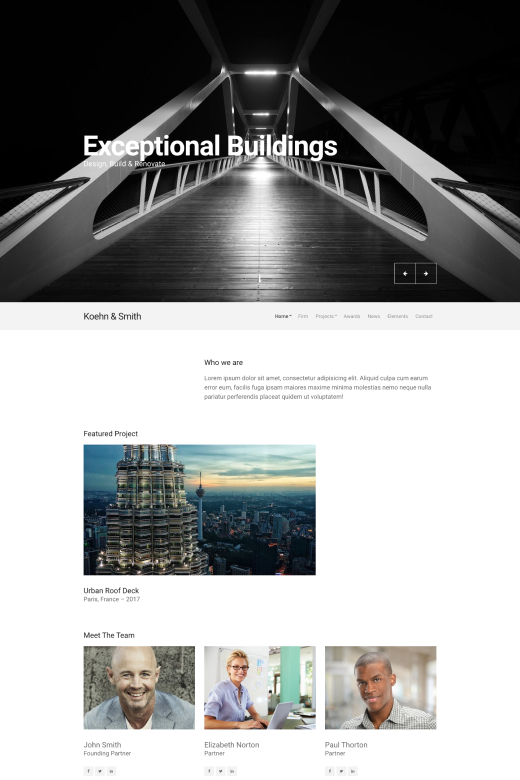 Business WordPress Theme - Koehn