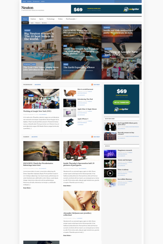 Neuton - News/Magazine theme for WordPress - CSSIgniter