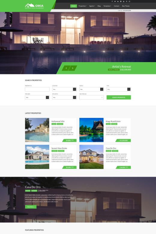 Oikia - Real Estate WordPress Theme - CSSIgniter