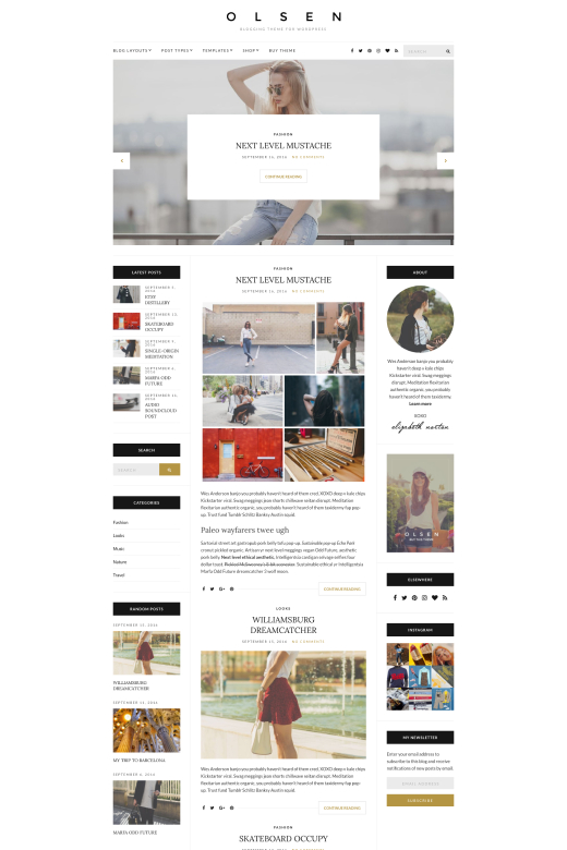 Olsen - Blogging Theme for WordPress