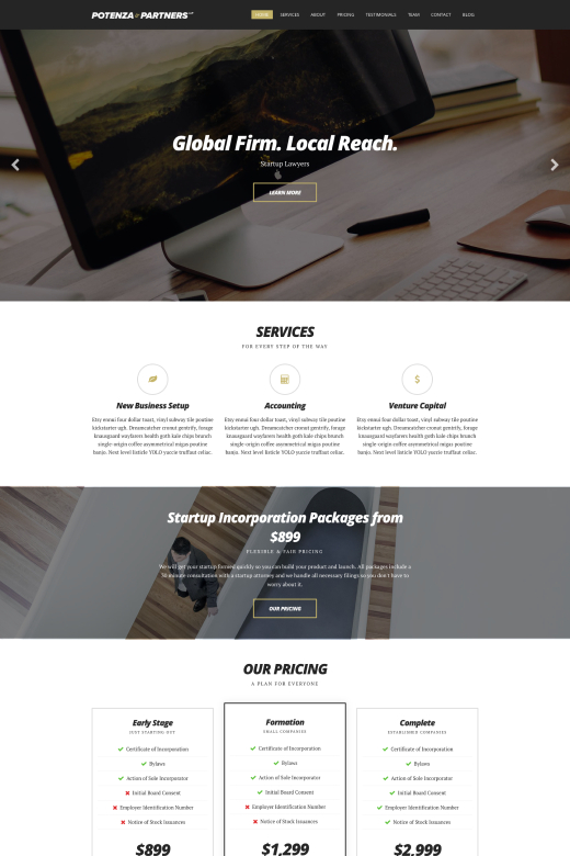 Potenza WordPress Theme - CSSIgniter