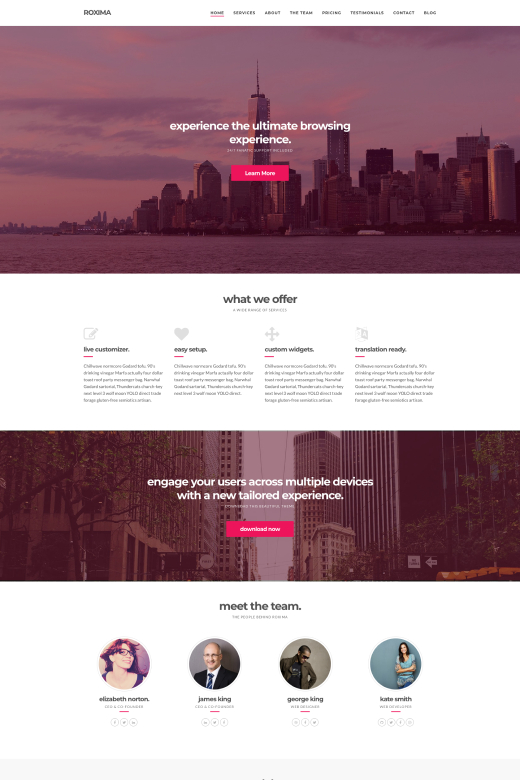 Roxima - Premium Business WordPress Theme