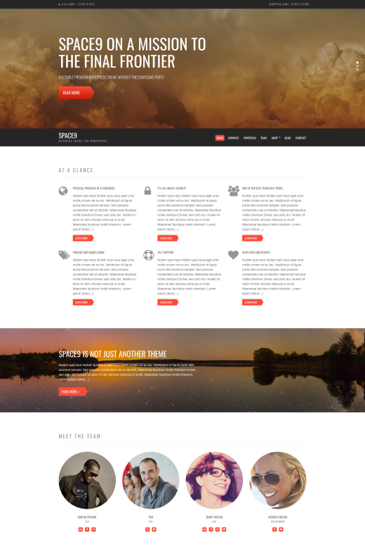 Space9 - Business/WooCommerce Theme - CSSIgniter