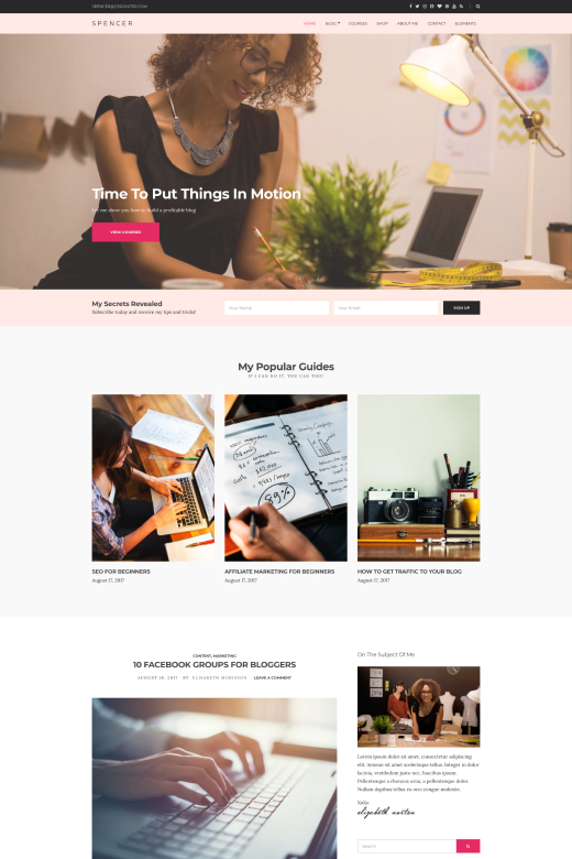Spencer WordPress Theme - CSSIgniter