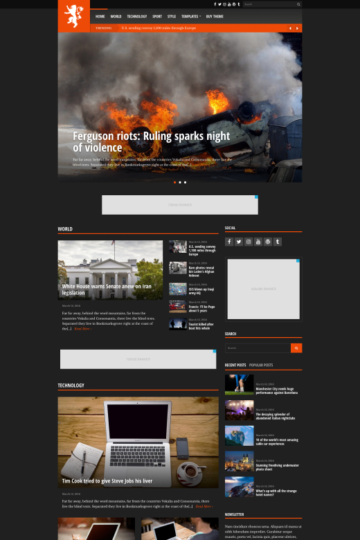 Tabloid - News/Magazine theme for WordPress - CSSIgniter