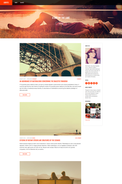 Uberto - Blogging WordPress theme - CSSIgniter